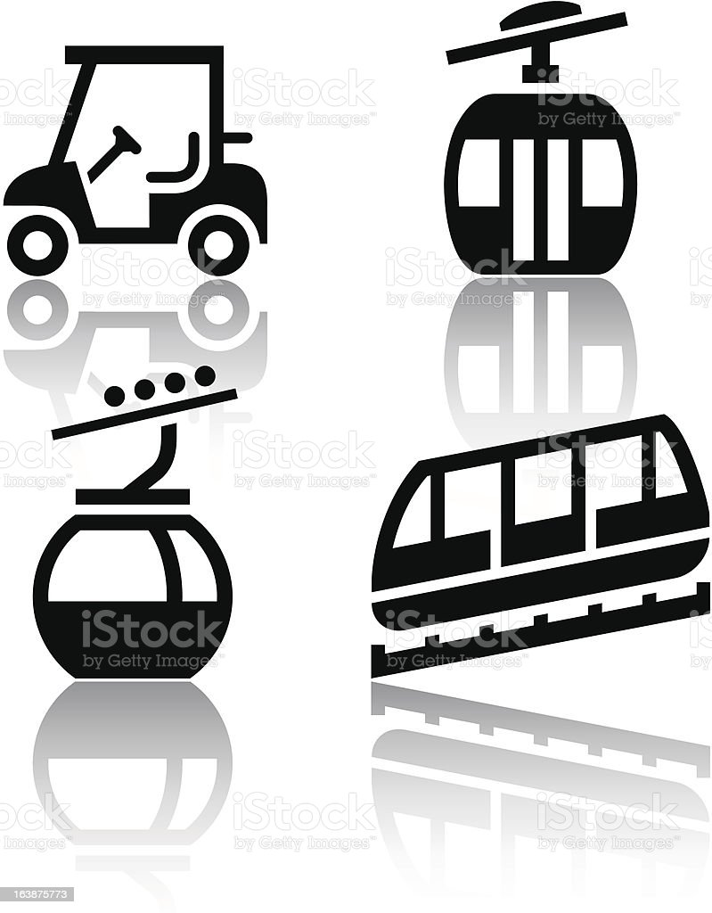 Set of transport icons - Recreation royalty-free stock vector art