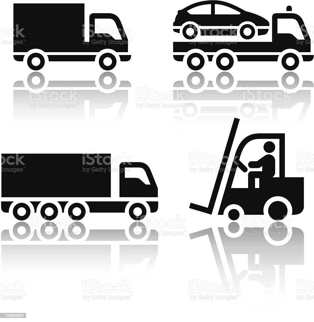 Set of transport icons - truck - Royalty-free Badge stock vector
