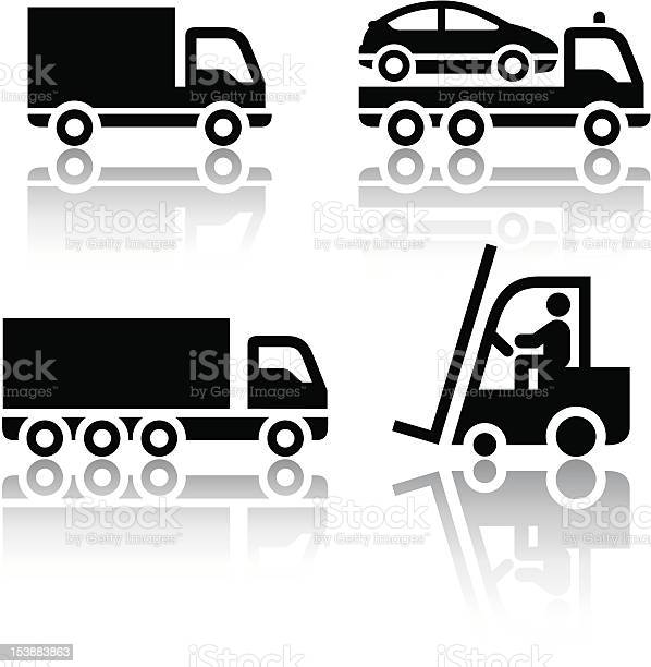Set Of Transport Icons Truck Stock Illustration - Download Image Now