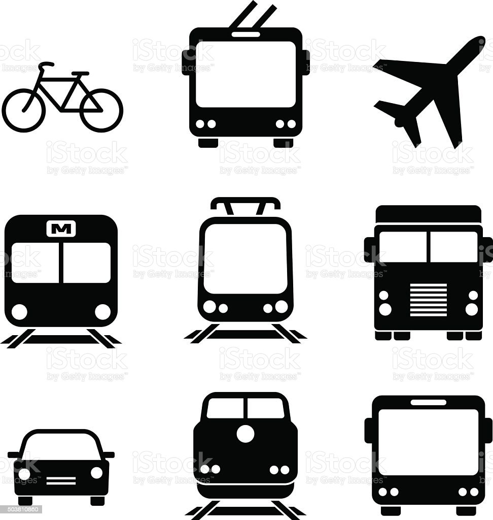 Set of transport icons. Vector elements vector art illustration