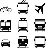 Set of transport icons. Vector elements