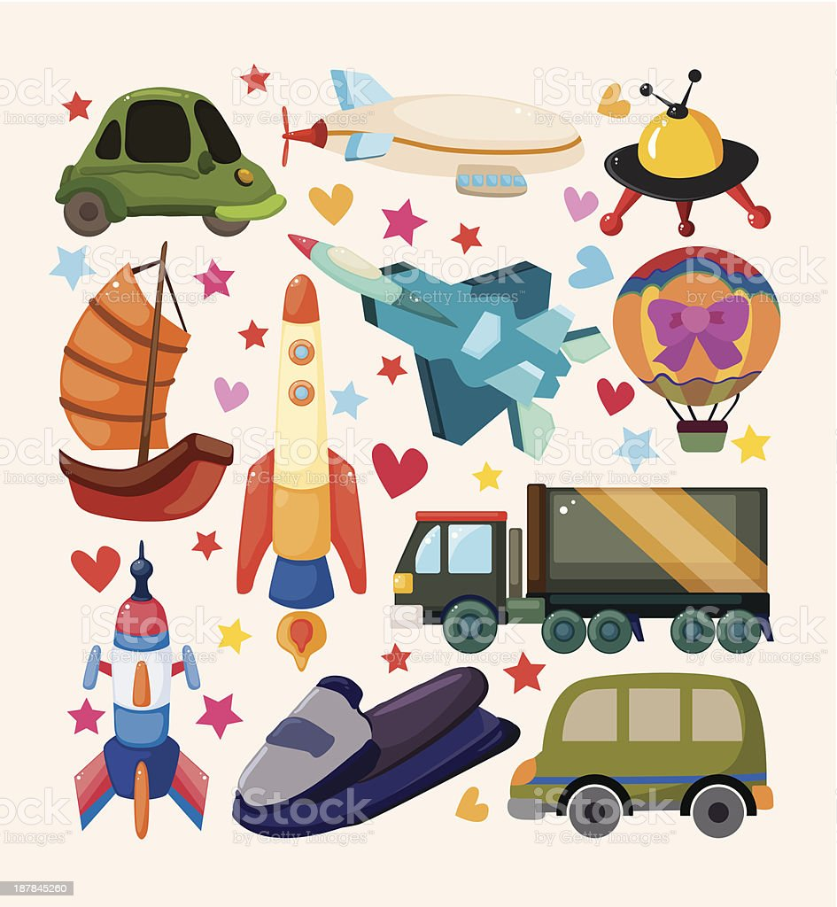 set of Transport icons royalty-free stock vector art
