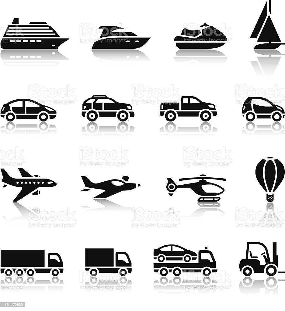 Set of transport signs royalty-free set of transport signs stock vector art & more images of 4x4