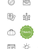 Set of Travel Holiday Vector Illustration