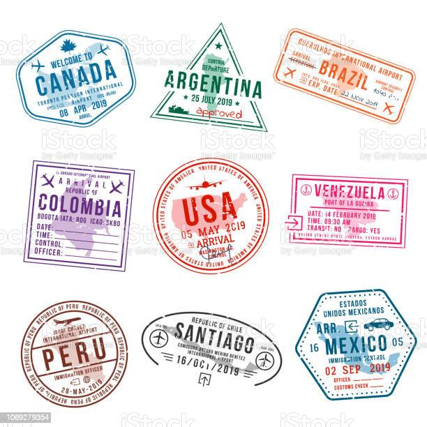 Set of travel visa stamps for passports international and immigration vector id1069279354?b=1&k=6&m=1069279354&s=612x612&h= kijk 0wimpjinnwgre0uzuwu761 qhjl4dlfw7hmws=