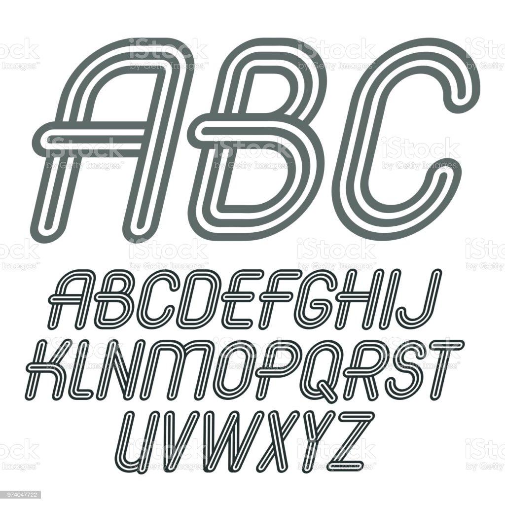 Abc Creation dedans set of trendy vector capital alphabet letters abc isolated retro