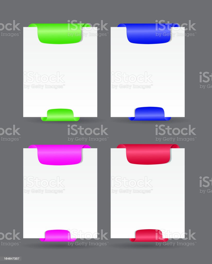 Set of trendy web banners vector illustration royalty-free stock vector art