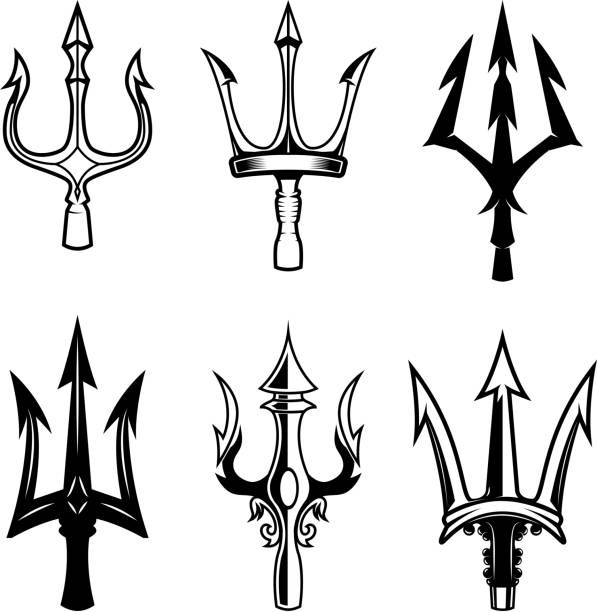 Best Poseidon Trident Illustrations Royalty Free Vector