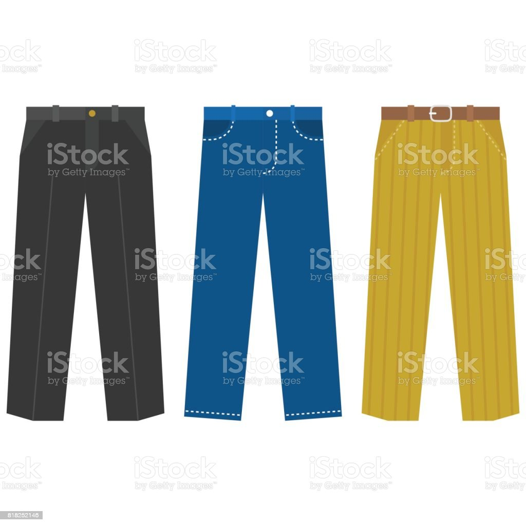 Set of trousers for  Business man royalty-free set of trousers for business man stock illustration - download image now