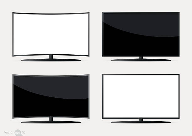 Set of TV Screen vector art illustration