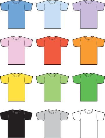 Set Of Twelve Tshirts