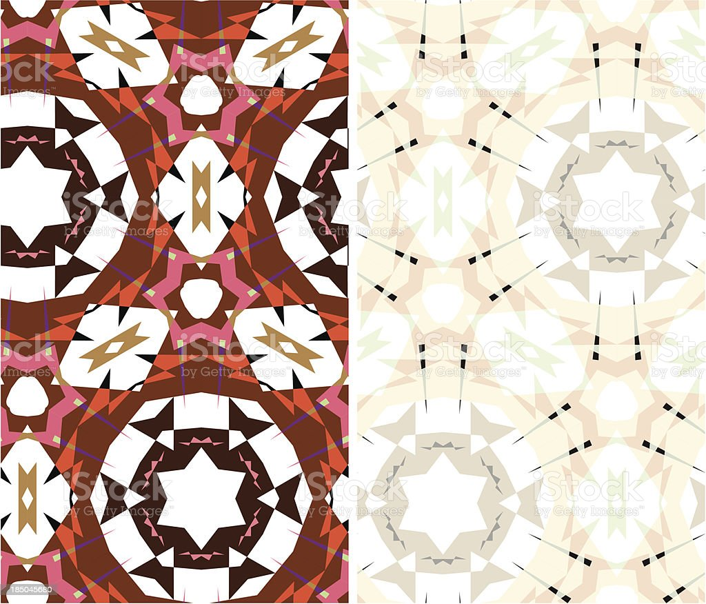 set of two geometric patterns royalty-free stock vector art