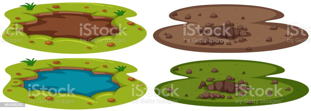 A Set of Underground Hole - Royalty-free Art stock vector