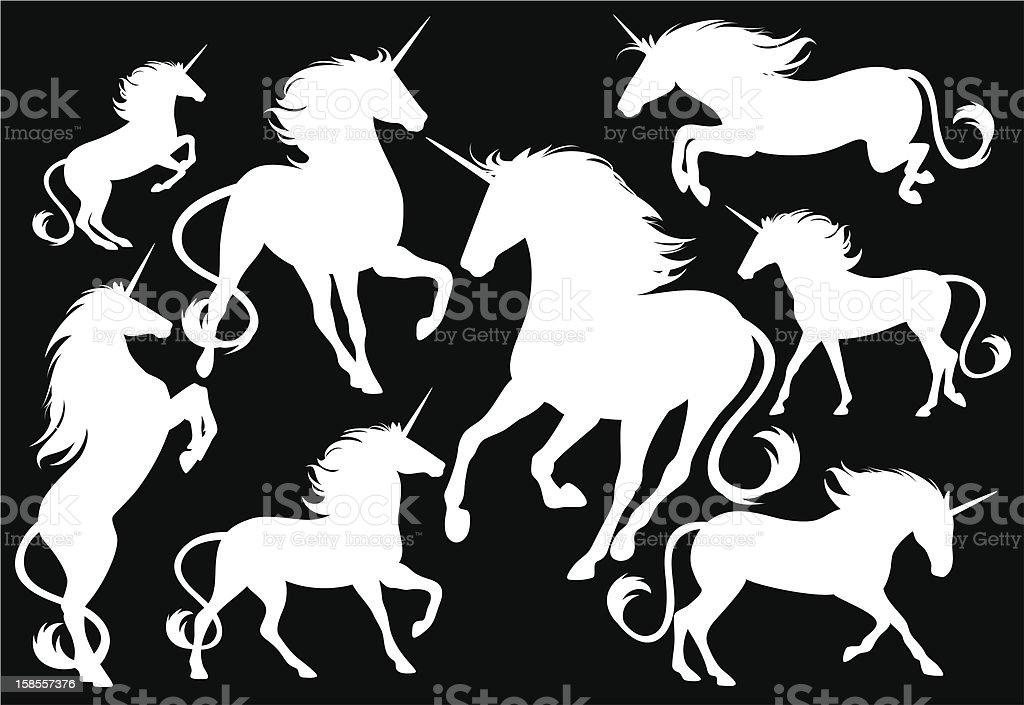 세트마다 unicorns royalty-free 세트마다 unicorns 가공의 인물에 대한 스톡 벡터 아트 및 기타 이미지