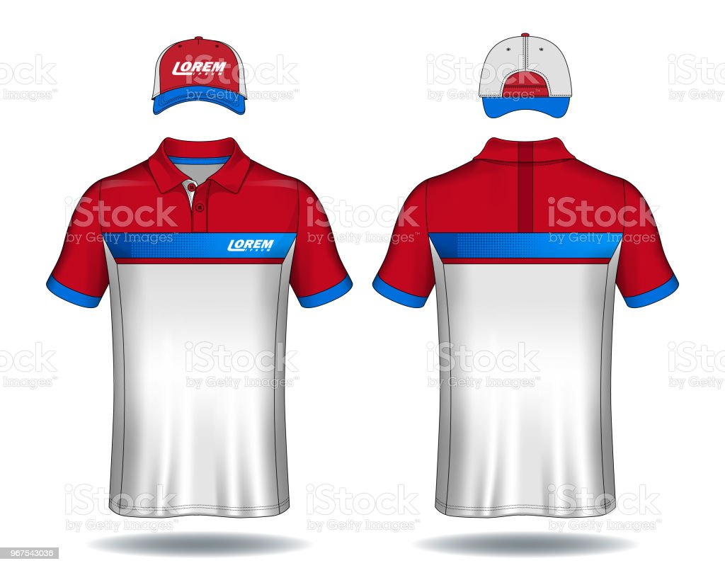 78c0e48ae Set of uniform template, polo shirts and caps. royalty-free set of uniform