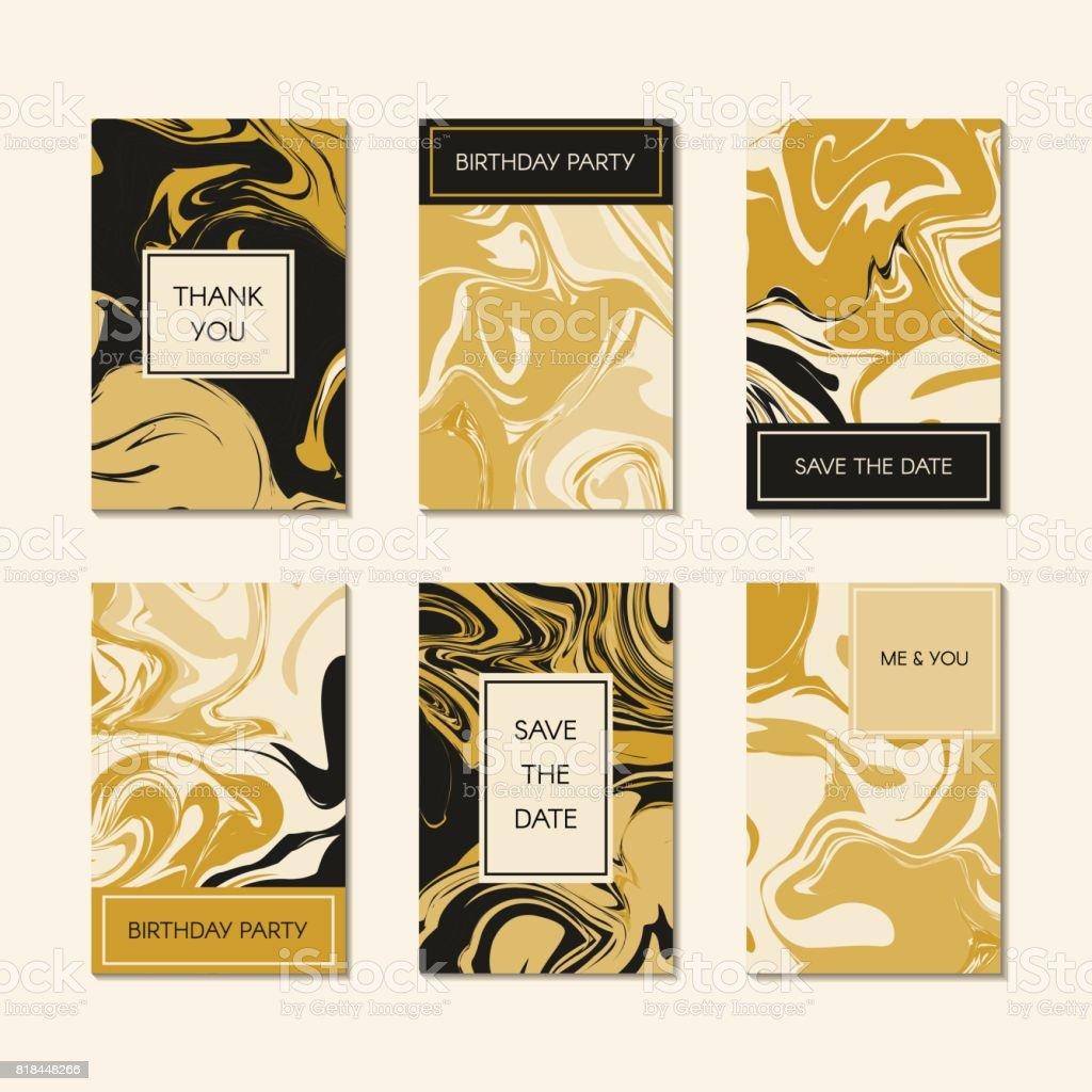 Set of unique card template vector - illustrazione arte vettoriale