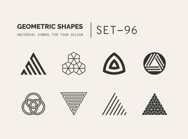普遍的最小集幾何 - 三角形 幅插畫檔、美工圖案、卡通及圖標