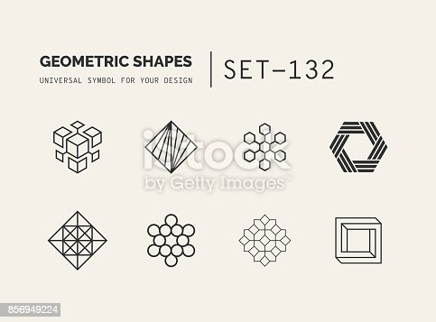 Hipster Style Geometric Tattoo Design, Trendy, Symbolic Meaning