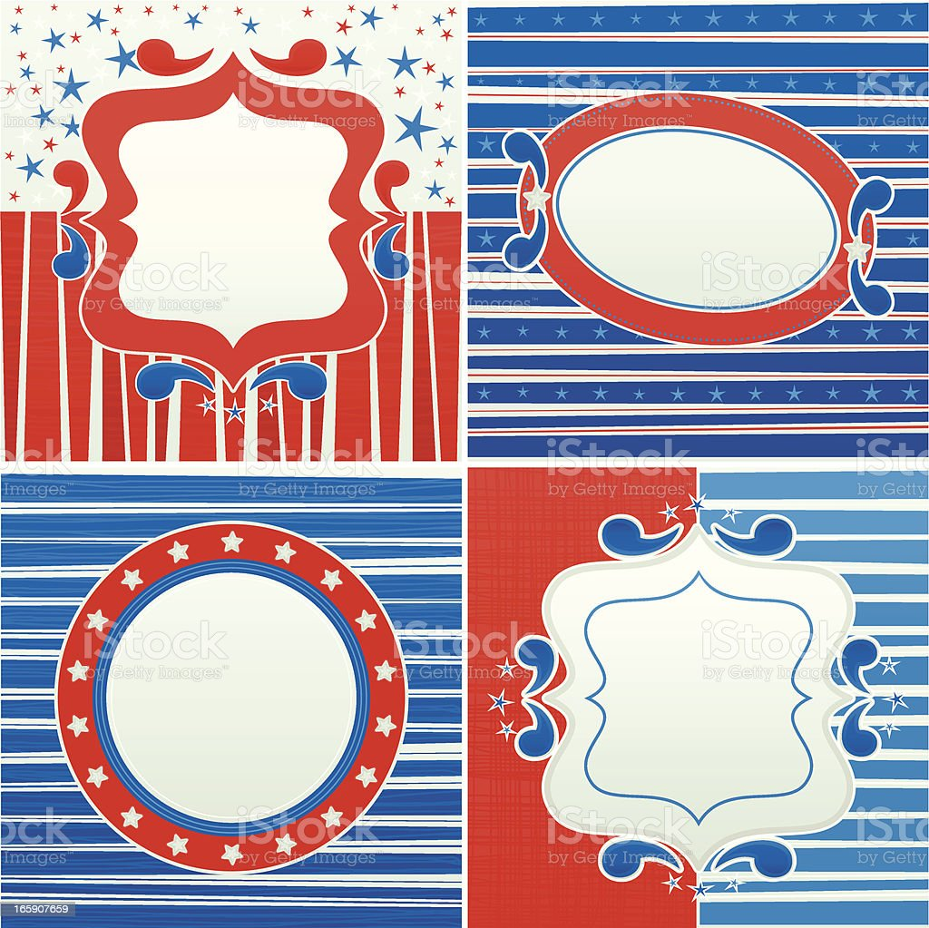 Set of USA Frames royalty-free stock vector art
