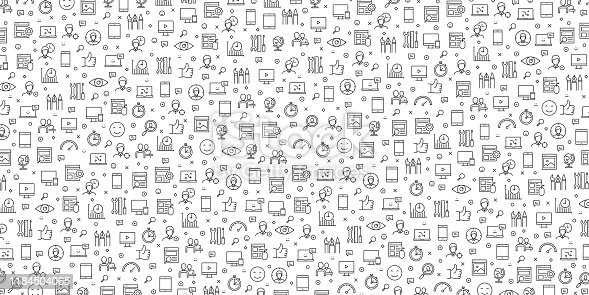 Set of User Experience Icons Vector Pattern Design