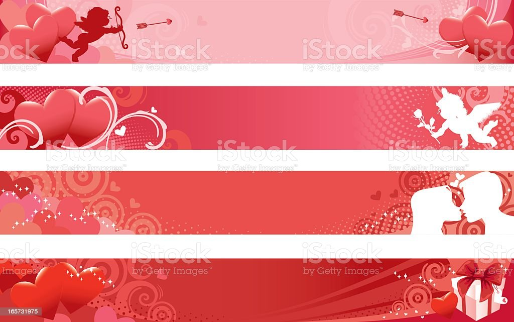 Set of Valentine Banners royalty-free stock vector art
