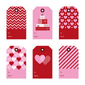 Set of Valentine's Day gift tags - Illustration