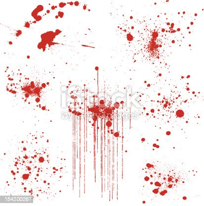 istock Set of Various Blood Splatters 154200267