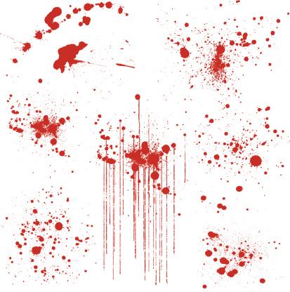 Set of Various Blood Splatters