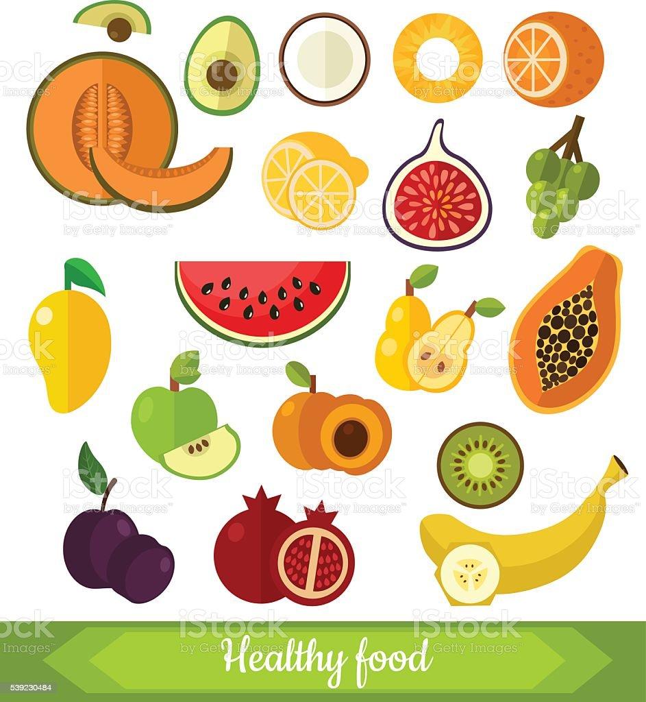 Set of various fruits royalty-free set of various fruits stock vector art & more images of banana