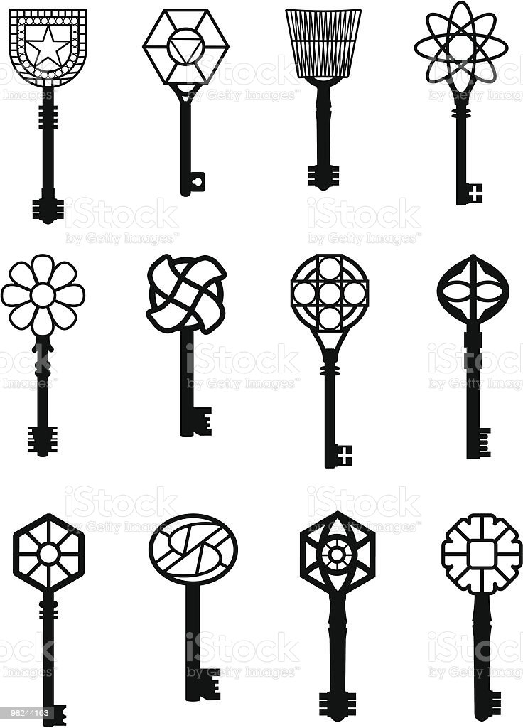 set of various keys illustration royalty-free set of various keys illustration stock vector art & more images of accessibility