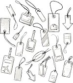set of various tags. vector illustration
