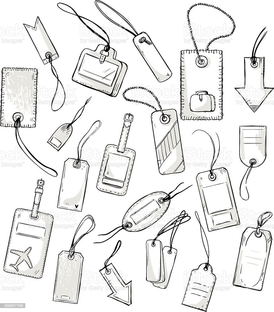 set of various tags. vector illustration vector art illustration