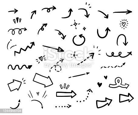 Set of vector arrows.