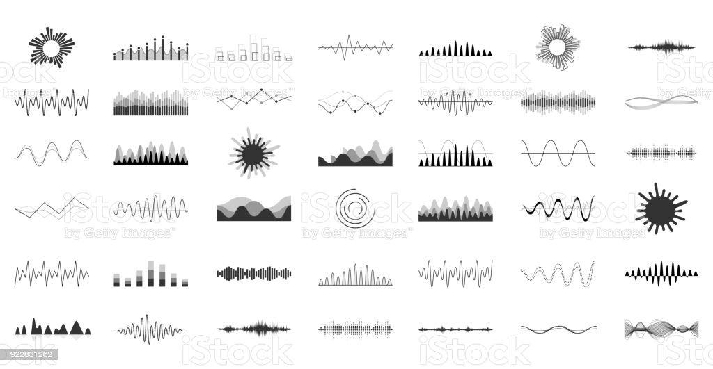 Set of vector audio scales. - arte vettoriale royalty-free di Abilità