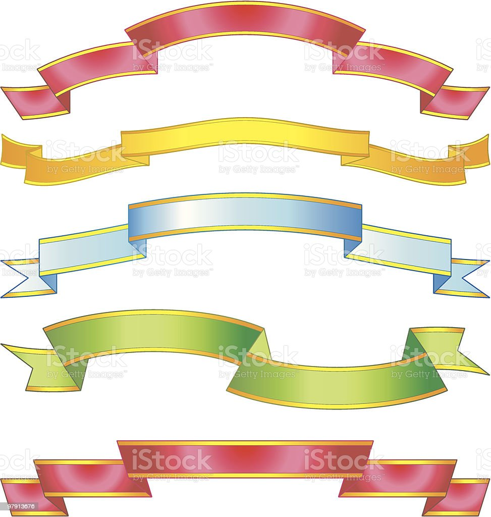 Set of vector award ribbons and scrolls royalty-free set of vector award ribbons and scrolls stock vector art & more images of announcement message