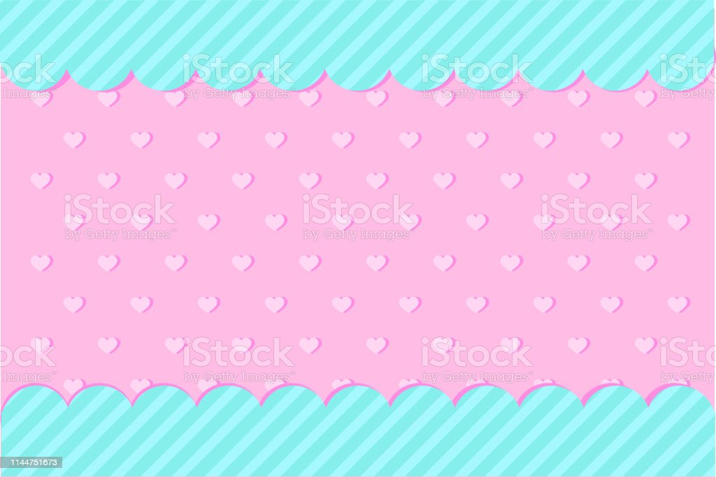 Set Of Vector Background With Hearts And Dots For Invitation