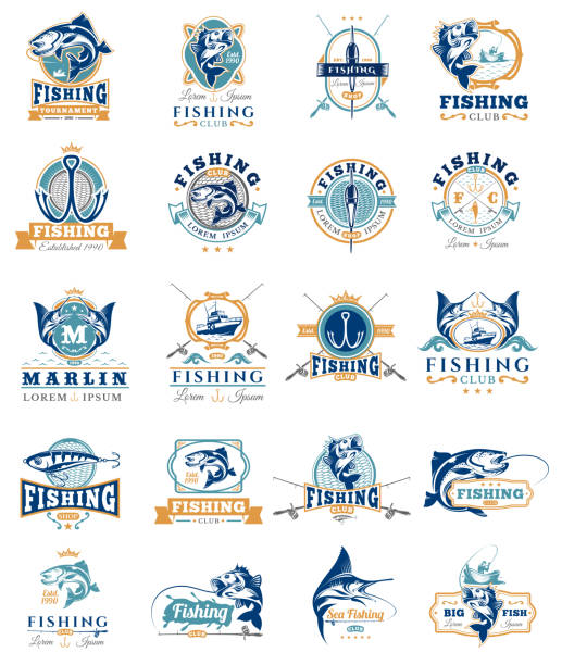 Royalty free fishing clip art vector images for Free fishing stickers