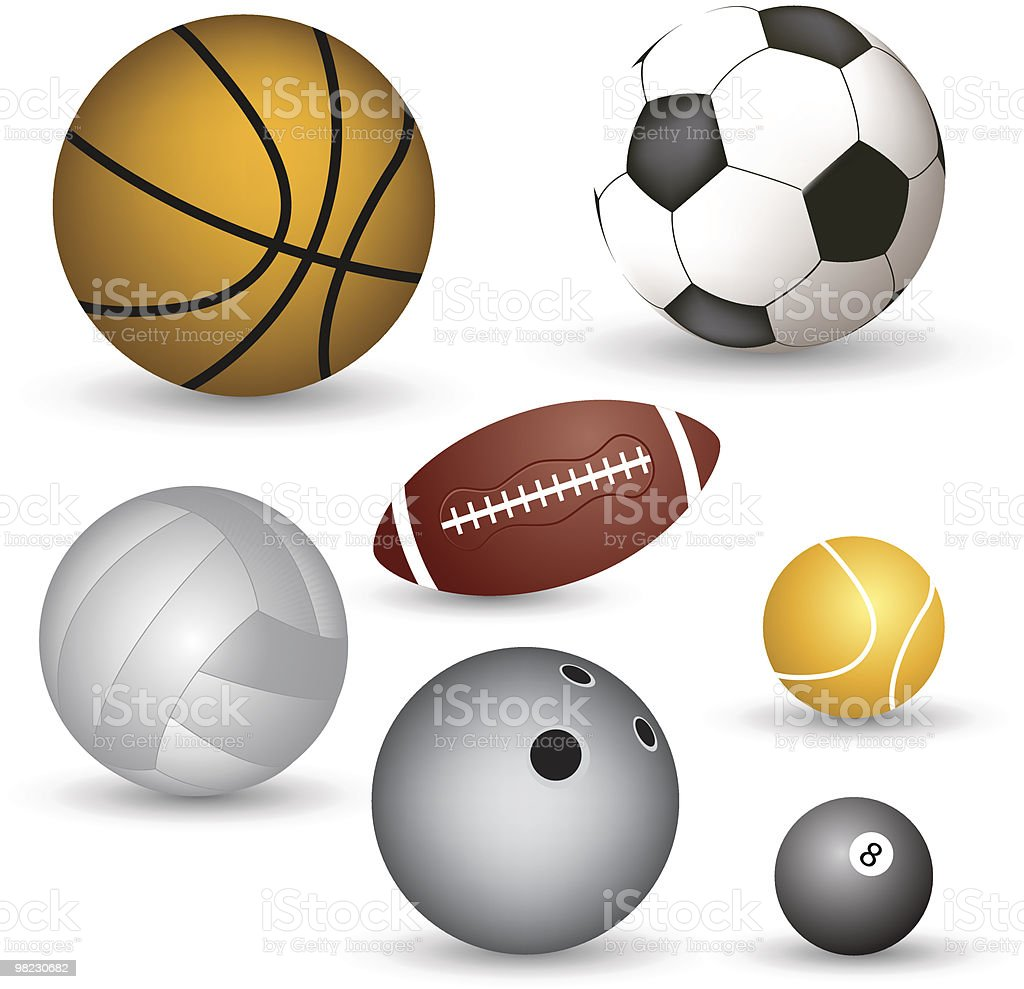 Set of vector balls royalty-free set of vector balls stock vector art & more images of collection