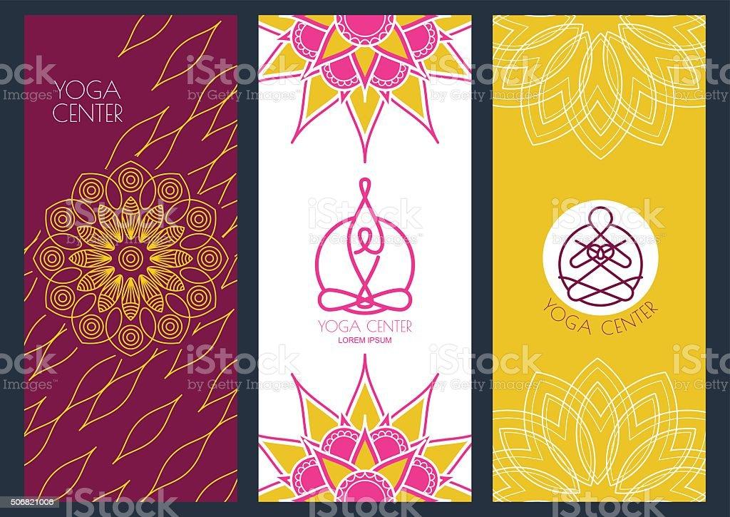 Conjunto De Vector De Banners Plantilla Para Clase De Yoga - Arte ...