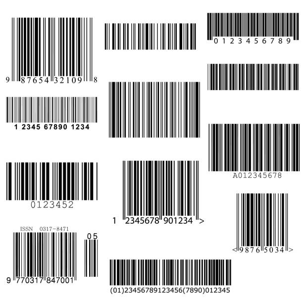 set of vector barcodes. vector art illustration