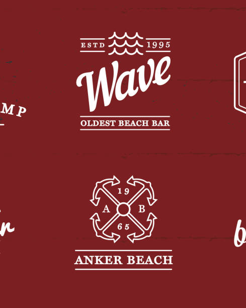 Set of Vector Beach Sea Bar Elements and Summer can be used as Logo or Icon in premium quality vector art illustration