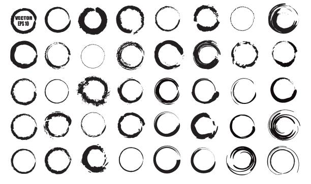 Set of vector black circles. Black spots on white background isolated. Spots for grunge design Set of vector black circles. Black spots on white background isolated. Spots for grunge design. circle stock illustrations