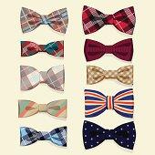 Set of vector bow-ties