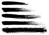 Set of vector brush strokes