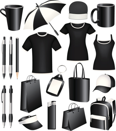 Set of  vector business corporate identity templates, gifts, packaging, souvenirs.