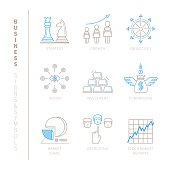Set of vector business icons and concepts