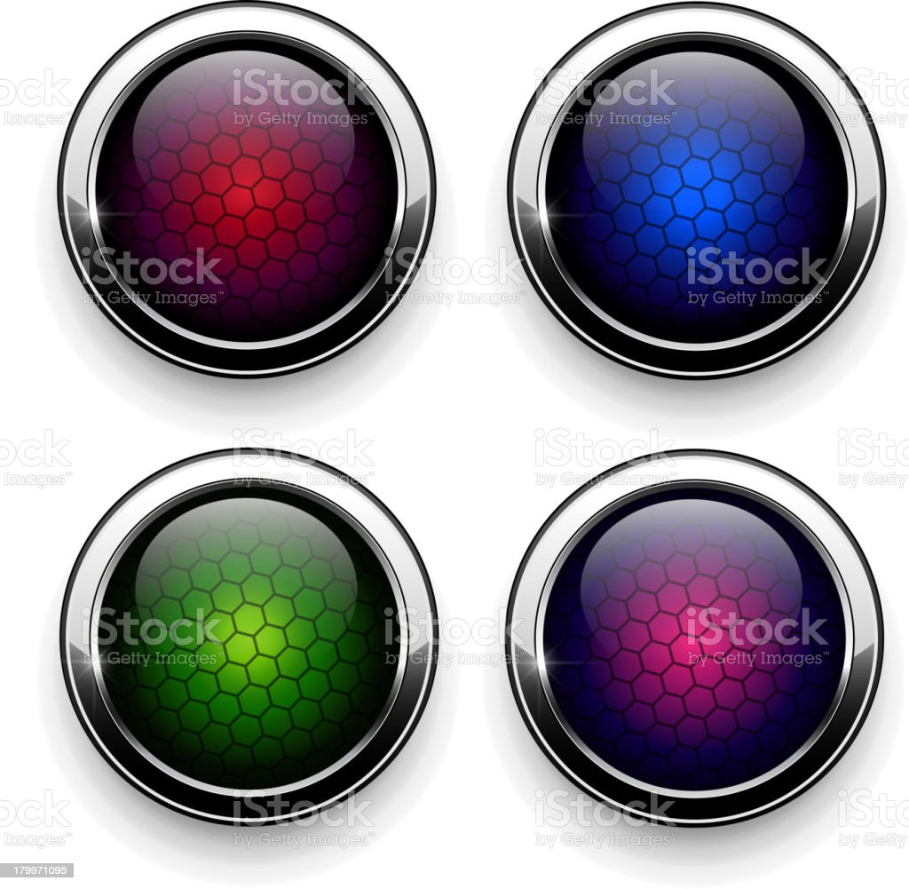 Set of Vector Buttons royalty-free set of vector buttons stock vector art & more images of color image