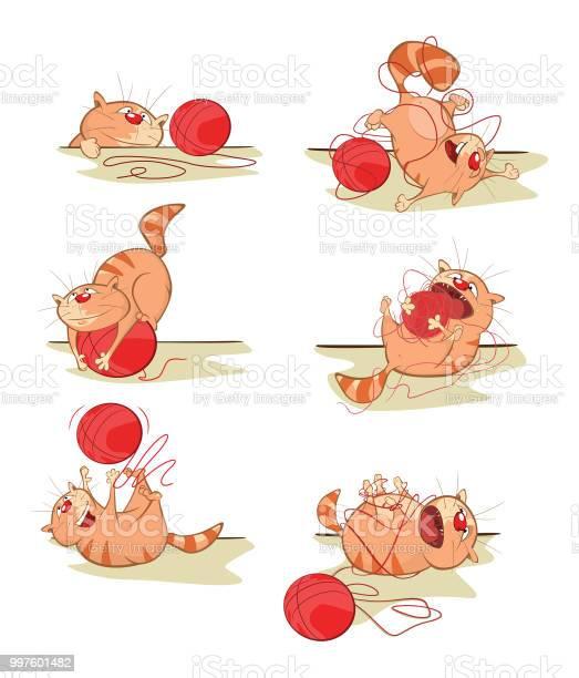 Set of vector cartoon illustration cute cats for you design comics vector id997601482?b=1&k=6&m=997601482&s=612x612&h=  scwtpot3zvpe2hrqbcjjhjqigfh5aslykzpghufks=