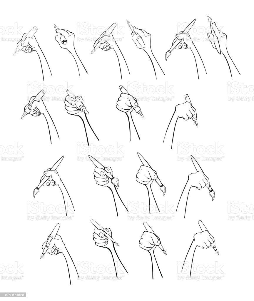 Ilustración De Un Conjunto De Ilustraciones De Dibujos Animados De