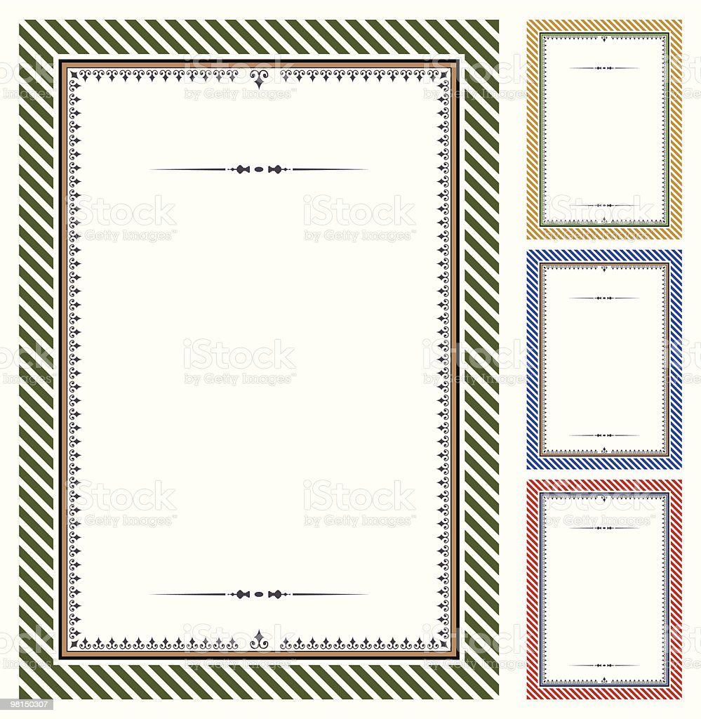 Set of vector certificates royalty-free stock vector art
